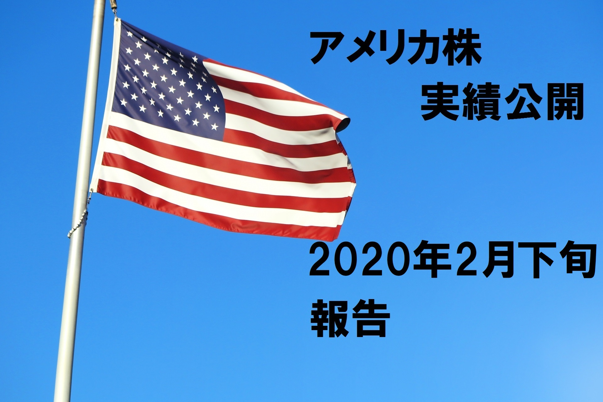 2020年2月末時点でのアメリカ株実績報告(地獄の始まりアメリカ編)